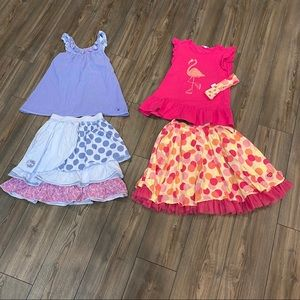 Naartjie Girls Outfits Funky Skirts Tops  size 9